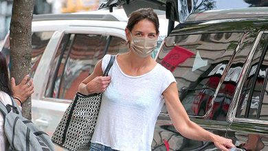 Photo of Katie Holmes Rocks Semi-Sheer Top While Out In NYC With Her Dog — Photo