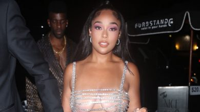 Photo of Jordyn Woods Wears Barely There Chain Crystal Dress As She Steps Out For 24th Birthday – Photos
