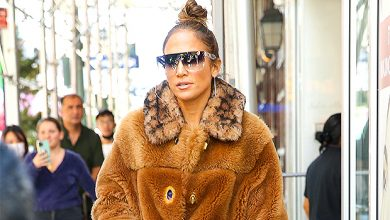 Photo of Jennifer Lopez Bundles Up In Coach Shearling Coat Worth Nearly $3k In NYC — Photos