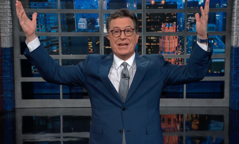 """Photo of Stephen Colbert Celebrates """"Crushing Humiliation"""" For GOP As Arizona Election Audit Reaffirms Biden's Victory"""