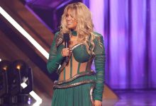 Photo of Tyra Banks Rocks Sexy Snake Gown & More To Channel Britney Spears On 'DWTS'